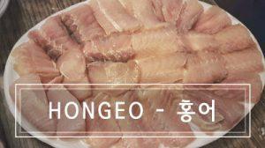 A plate full of Hongeo: the stinky korean fish